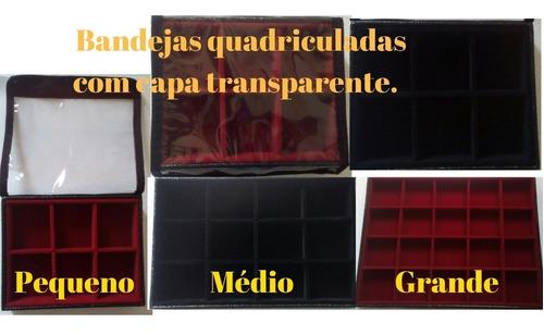 expositor para brincos veludo preto ou vermelho