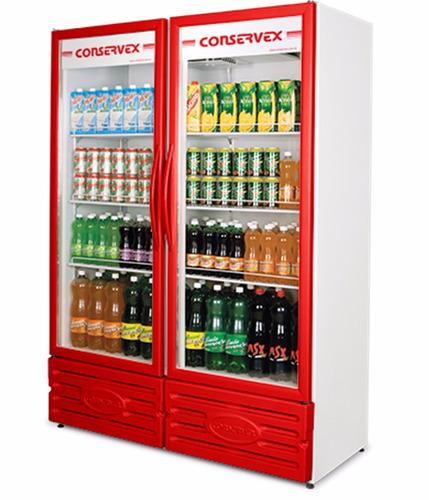 expositor vertical geladeira 2 portas 850l 220v vermelho