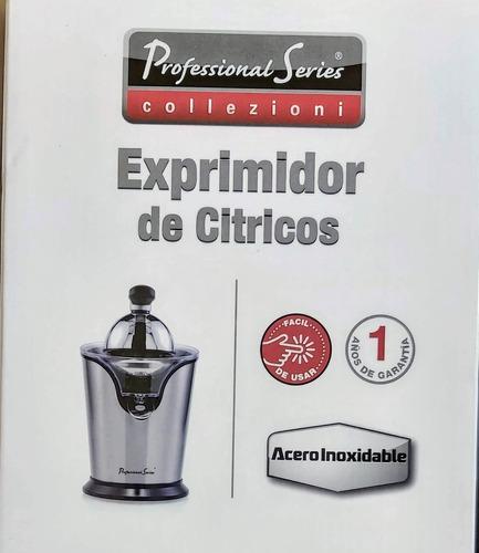 exprimidor de jugos electrico citricos naranja acero inox.
