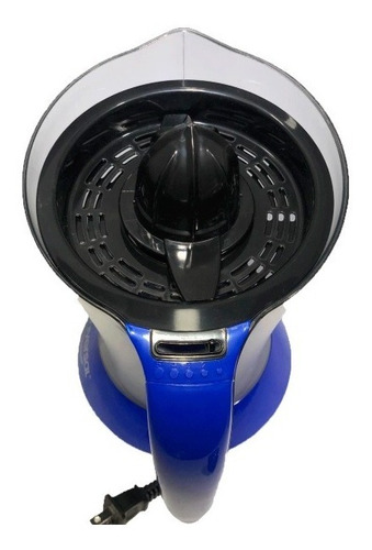 exprimidor de naranja y cítricos eléctrico universal azul.