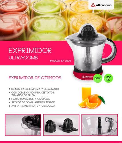 exprimidor ultracomb juguera jarra 1250ml 50w