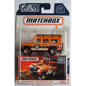 007ec3aa61e85 Matchbox Globe Travelers Naranja Land Rover Defender 110 65t