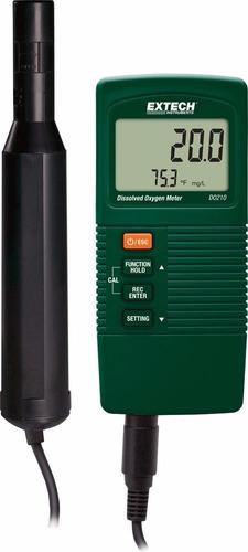 extech do210 medidor oxigeno disuelto oximetro agua do