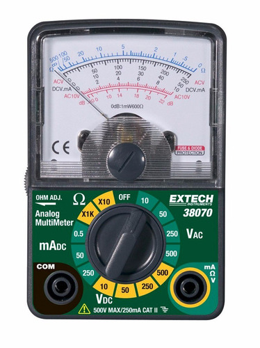 extech multimetro analogico compacto ac-dc importacion ee.uu