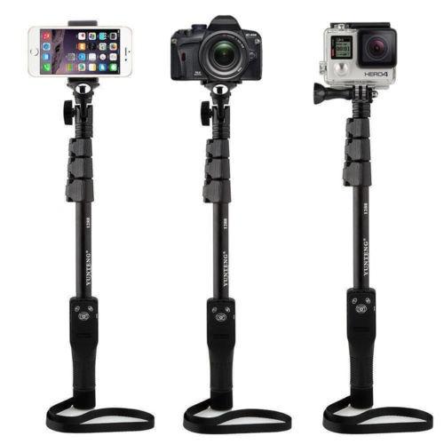 extendido wireless bluetooth selfie palo poste para go pro