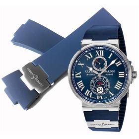 Extensible Correa Caucho Azul 26mm Ulysse Nardin Maximarine