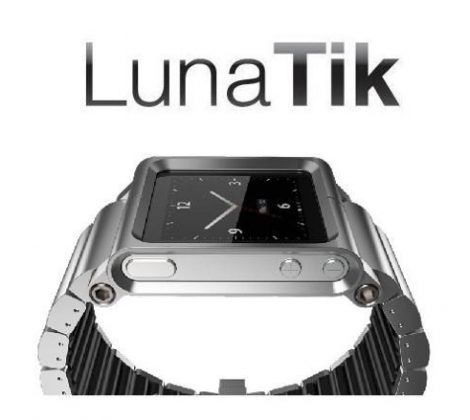 extensible, correa de aluminio lunatik link, reloj ipod nano