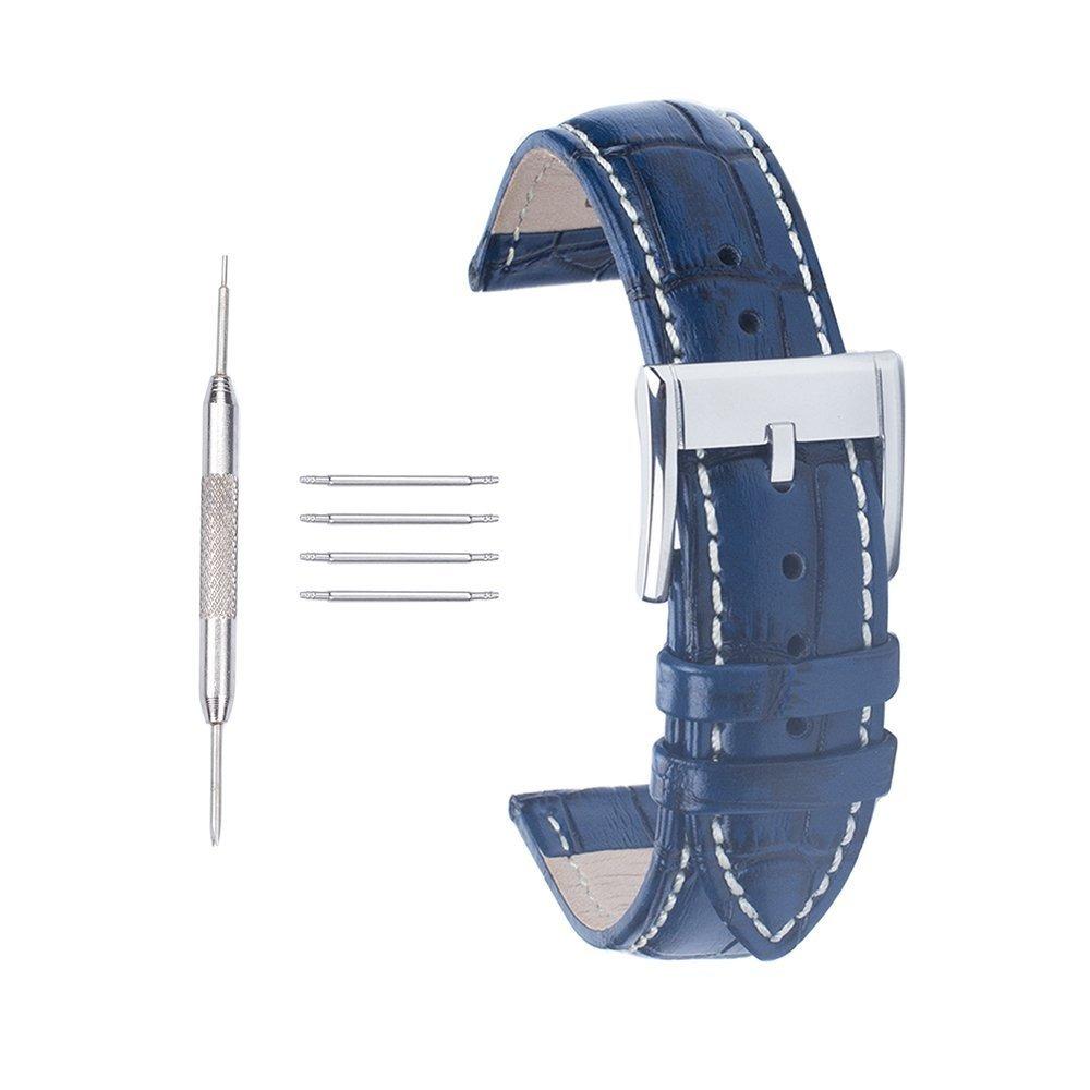 bdffd6a5cc28 Extensible Correa Para Reloj 20 Mm Color Azul -   650.00 en Mercado ...