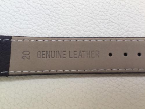 extensible, correa reloj de piel 20mm, colores varios