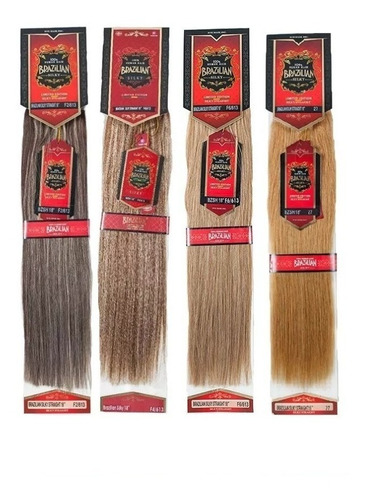 extension cabello brazilian 18plg 100%  natural combinados