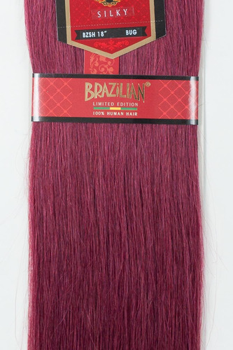 extension de cabello brazilian 18 plg 100% natural borgoña