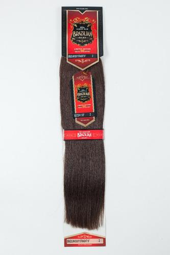 extension de cabello brazilian 18 plg 100% natural-castaño