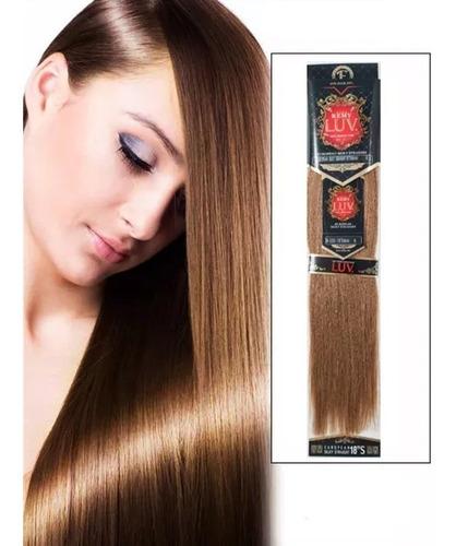 extension de cabello eve luv remy 18plg 100% natural castaño