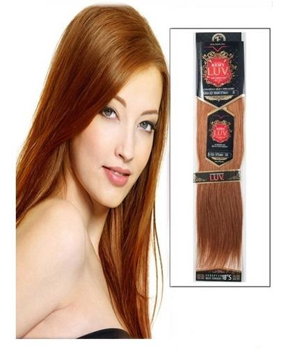 extension de cabello eve luv remy 22plg 100% natural cobrizo
