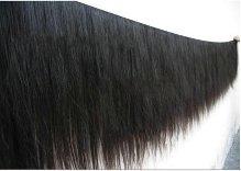 extension de cabello humano virgen liso y semiondulado.