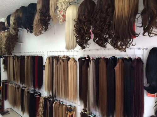 extensión de cabello natural 15 cm ancho x 50 cm largo bgta