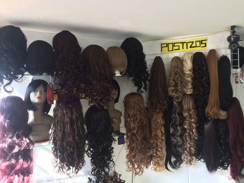 extensión de cabello natural 15 cm ancho x 60 cm largo