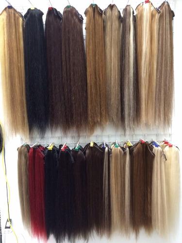 extension de cabello natural de 60 cm largo y 15 cm ancho