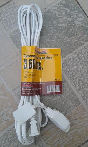 extension domestica 3,60 metros spt 2x18 navideña