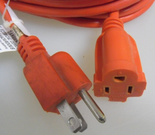 extensión eléctrica 30.5 mts 10a 125v 1250w 16/3 sjtw