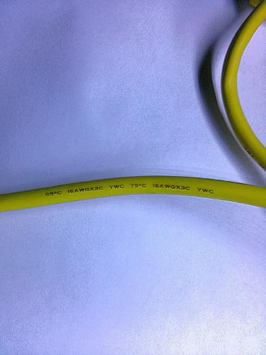 extension electrica amarilla 15m multitoma 10 amp 1250watts