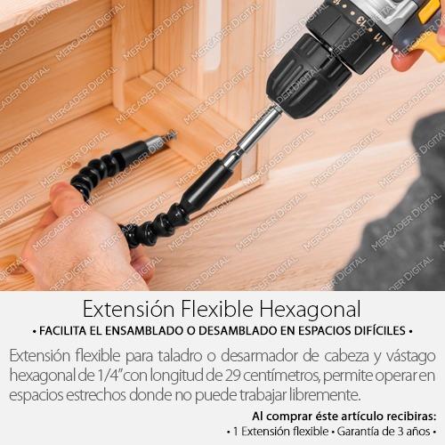 extensión flexible hexagonal para taladro + envío gratis