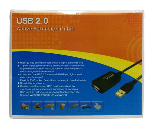 extension usb 20 metros activa    4132