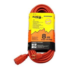 Extensión Uso Rudo Triple Naranja 30 Mts. 127v 10a