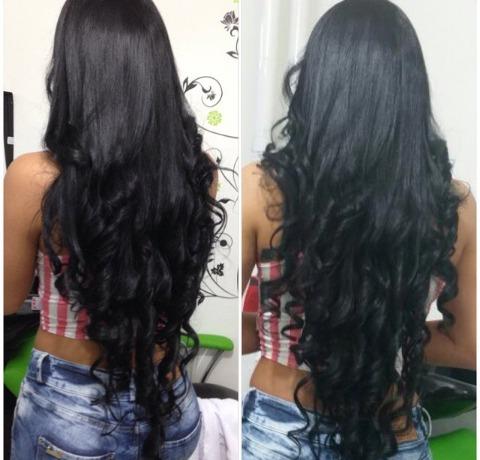 Extensiones cabello 100 natural 18 de largo negras bs for Extensiones antes y despues