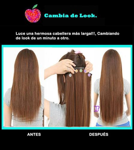 extensiones cabello clip on 24 pul paquete 6 piezas mayoreo