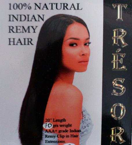 extensiones cabello remi 100% natural 51cm clip quita y pon