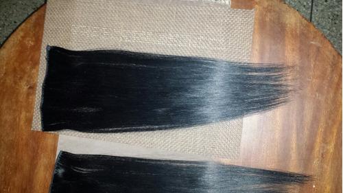 extensiones d cabello 100% natural con sus ganchos mide 50cm