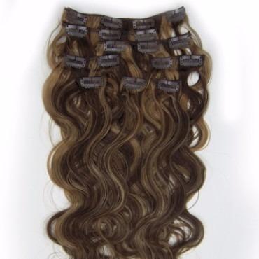 extensiones de cabello 100 % natural con clips 7 piezas