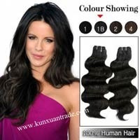 extensiones de cabello 100 % natural ondeado con clips