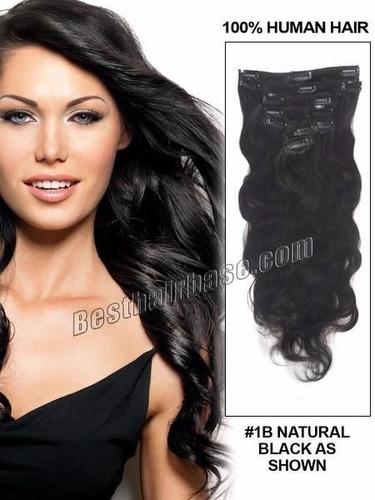 extensiones de cabello 100 % natural ondeado con clips