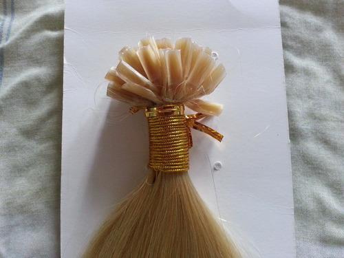 extensiones de cabello 100% naturales de punto de keratina