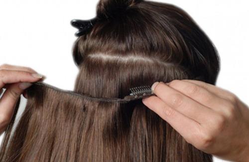 extensiones de cabello 18  (4 cortinas) planchables lindas