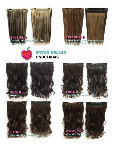 extensiones de cabello clip on fibra natural bambú
