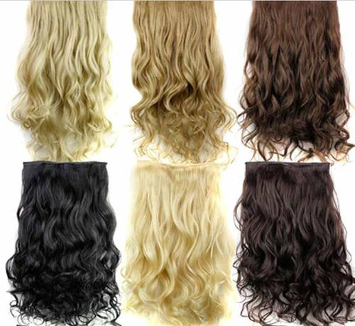 extensiones de cabello clip on lacias y onduladas baratas