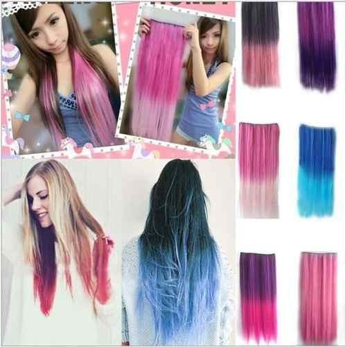 extensiones de cabello onduladas lisas fantasia clips