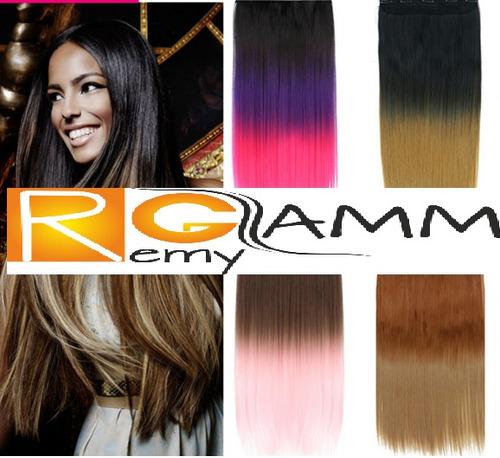 extensiones de cabello pelo californianas colores clipon 24
