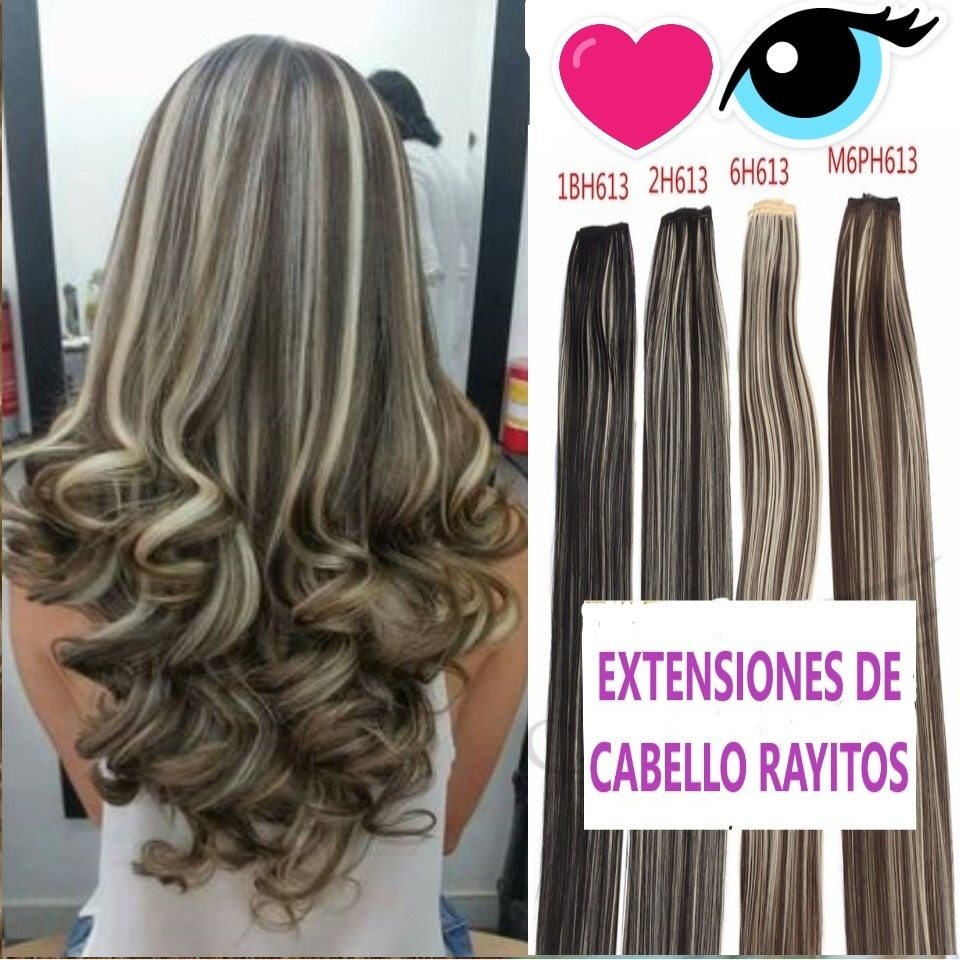 Cabello color cafe claro con rayitos