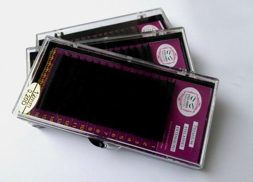 extensiones de pestañas de mink lote de 3 cajas de 16 lineas