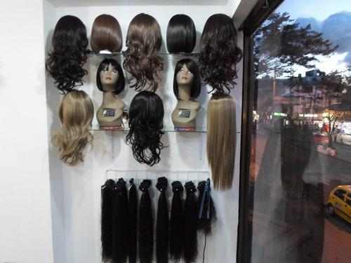 extensiones de punto cabello humano 60 cm de largo