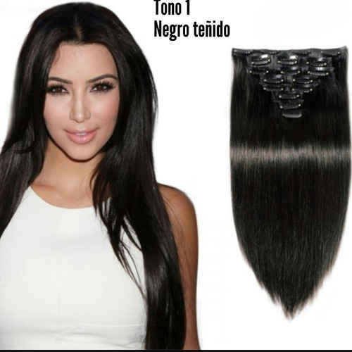 extensiones naturales cabello humano clip envio gratis daa