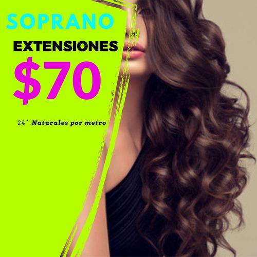 extensiones naturales por metro cabello natural humano