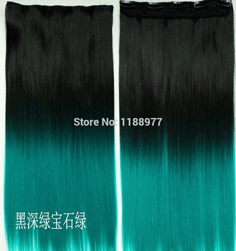 extensiones semi natural dos colores 5 clip vadial fashion
