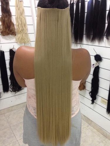 extensiones seminaturales, 76 cms de largo, 6 tonos.