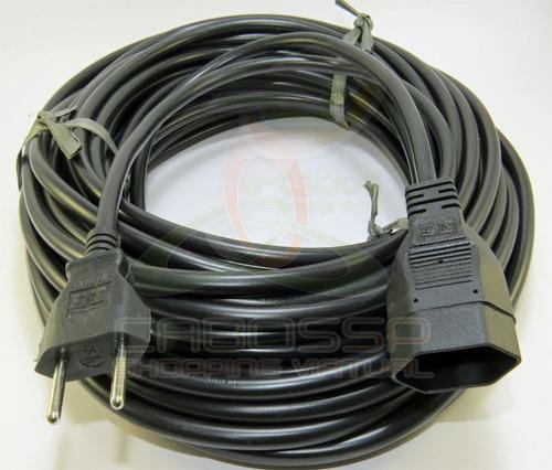 extensão elétrica certificada cabo pp nbr 2x1,5mm 10a - 5m