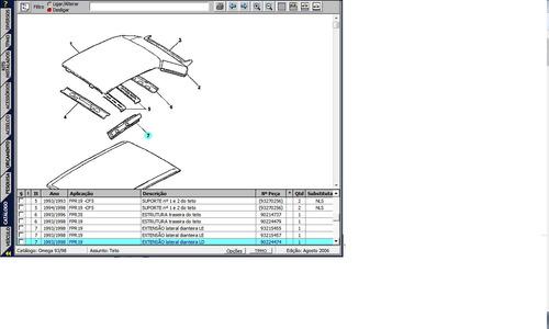 extensão lateral ld dianteiro teto omega 93 a 98 original gm